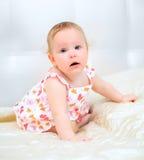 Één jaar oud babymeisje Stock Foto