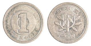 één Japans Yenmuntstuk Stock Afbeelding