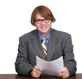 Één jonge zakenman Royalty-vrije Stock Afbeeldingen
