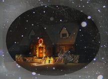 Één Kerstnacht stock afbeelding