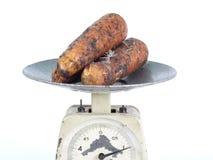 Één kilogram van wortel Stock Foto's