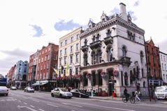één klassieke straat in Dublin royalty-vrije stock afbeelding