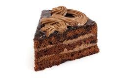 Één kleine plak van cake Stock Foto