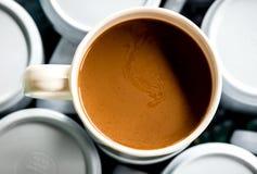 Één kop van koffie Stock Foto