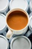 Één kop van koffie Stock Foto's