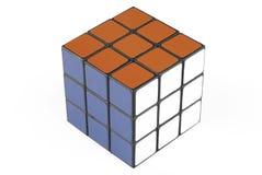 Één kubus Rubik royalty-vrije stock fotografie