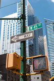 Één maniertekens op Manhattan, NYC Stock Fotografie