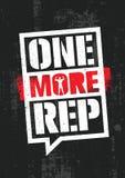 Één meer rep Training en van de Geschiktheidsgymnastiek het Concept van het Ontwerpelement Creatief Douane Vectorteken op Grunge- Royalty-vrije Stock Foto