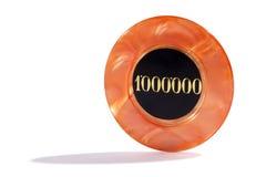 Één miljoen casinospaander Royalty-vrije Stock Afbeeldingen