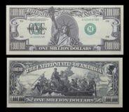 Één miljoen geld van de dollarrekening Stock Foto