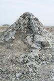 Één moddervulkaan in het Nationale Park van Gobustan Royalty-vrije Stock Fotografie