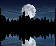 Één nacht in de stad Stock Afbeeldingen