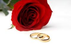 Één nam en twee trouwringen toe royalty-vrije stock foto