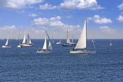 Één oft Grootste regata van de zeilboot in de wereld royalty-vrije stock foto