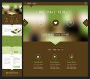 Één ontwerp van de paginawebsite Stock Afbeeldingen