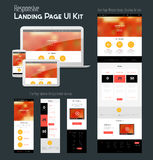 Één ontwerp van de paginawebsite Stock Foto's