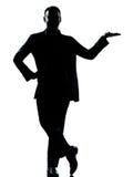 Één open silhouet van de bedrijfsmensenhand Royalty-vrije Stock Afbeelding
