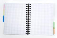 Één opende notitieboekje Royalty-vrije Stock Afbeeldingen