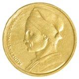één oud Grieks Drachmemuntstuk Royalty-vrije Stock Fotografie