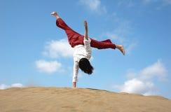 Één overhandigd vakantie cartwheel Royalty-vrije Stock Afbeeldingen