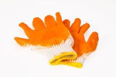 Één paar van handschoenensinaasappel Royalty-vrije Stock Afbeelding
