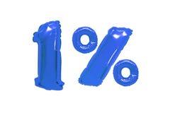 Één percent van ballons donkerblauwe kleur royalty-vrije stock afbeeldingen