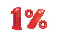 Één percent van ballons rode kleur stock illustratie