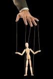 Één persoon leidt andere als een marionet royalty-vrije stock afbeeldingen