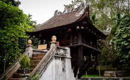 Één-pijler pagode in Hanoi - Vietnam Stock Fotografie
