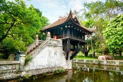 Één Pijlerpagode in Hanoi, Vietnam royalty-vrije stock foto