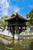Één Pijlerpagode in Hanoi, ViOne Pillaretnam Één van schoonheid-vlekken in Hanoi, de één-Pijler Pagode is een populaire toeristis royalty-vrije stock afbeelding