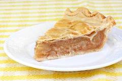 Één plak van de pastei van de appelkaneel Royalty-vrije Stock Afbeeldingen