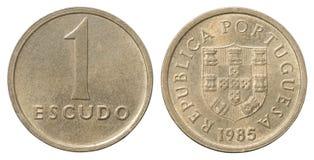 Één Portugese escudo Stock Foto's