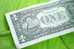 Één Rekening Dolar Stock Foto