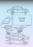 Één samenstelling van lijnauto's Royalty-vrije Stock Afbeelding