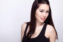 Één sexy mooie jonge vrouw stock afbeeldingen