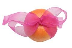 Één smakelijke sinaasappel Royalty-vrije Stock Afbeelding