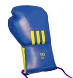 één sport blauwe acessory voor geïsoleerdee bokser, Stock Foto's