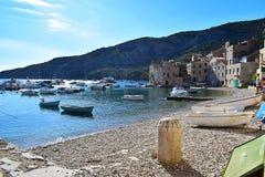 Één strand in Komiza royalty-vrije stock foto