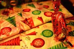 Één stuk van Kerstmis fondand op giften Royalty-vrije Stock Afbeeldingen