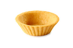 Één tartlet op wit Royalty-vrije Stock Foto