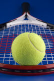 Één tennisbal. Stock Afbeeldingen
