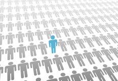 Één tribune op persoon in wereld van bepaalt mensen vector illustratie