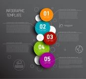 Één twee drie vier vijf - vectorvooruitgangspictogrammen voor vijf stappen Royalty-vrije Stock Afbeelding