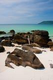 Één van de beste stranden in Azië op Koh Rong-eiland Royalty-vrije Stock Foto