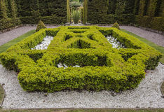 Één van de formele tuinen bij Biddulph-Landhuis Royalty-vrije Stock Afbeeldingen