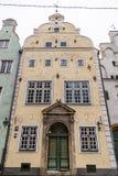 Één van de gebouwen die een deel van ` s van brali van Drie Broerstris royalty-vrije stock afbeelding