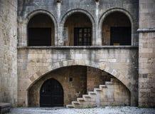Één van de gebouwen van de oude stad Stock Afbeelding
