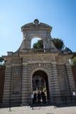 Één van de Ingangen aan de Palatine Heuvel in Rome Italië Royalty-vrije Stock Afbeelding