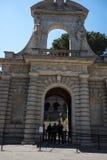 Één van de Ingangen aan de Palatine Heuvel in Rome Italië Stock Foto